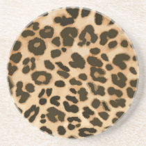 Leopard Print Background Coaster