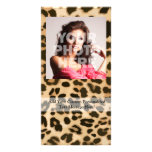 Leopard Print Background Custom Photo Card