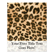 Leopard Print Background Flyer