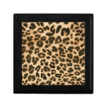 Leopard Print Background Gift Boxes