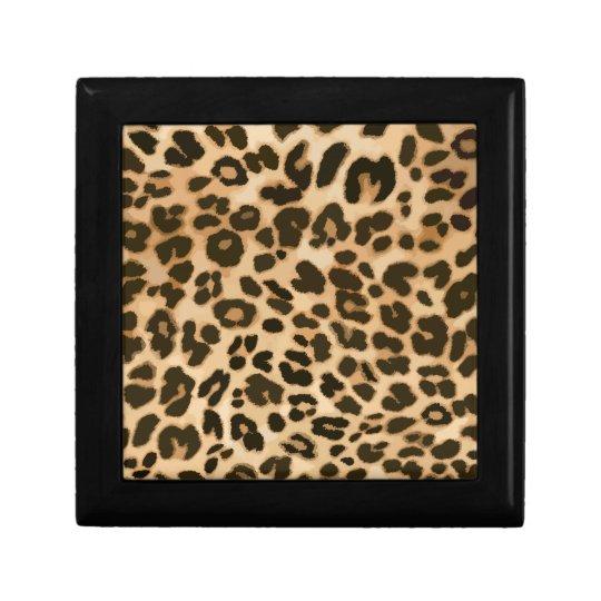 Leopard Print Background Jewelry Box