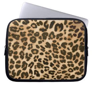 Leopard Print Background Laptop Sleeve