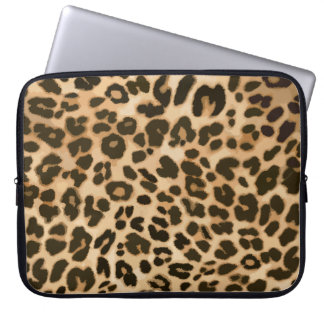 Leopard Print Background Laptop Sleeve