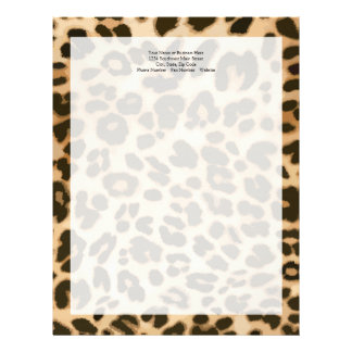 Leopard Print Background Letterhead