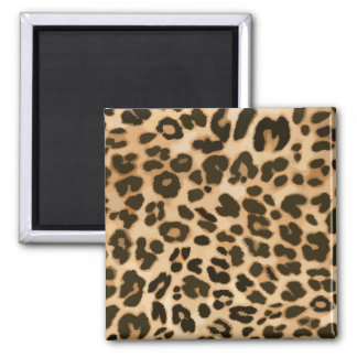 Leopard Print Background 2 Inch Square Magnet