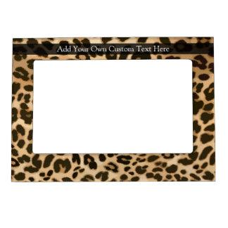 Leopard Print Background Magnetic Photo Frame