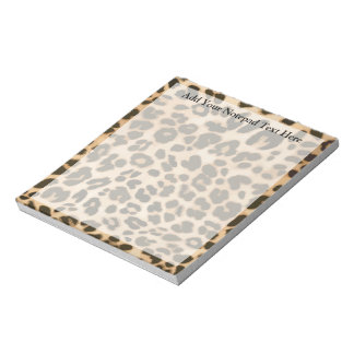 Leopard Print Background Note Pads
