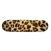 Leopard Print Background Skateboard