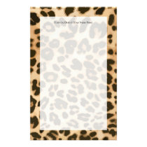 Leopard Print Background Stationery