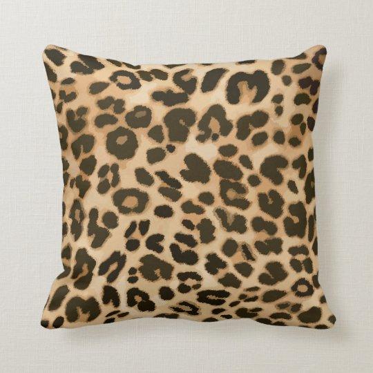Leopard Print Background Throw Pillow