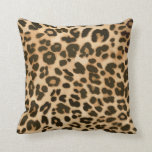 Leopard Print Background Throw Pillow