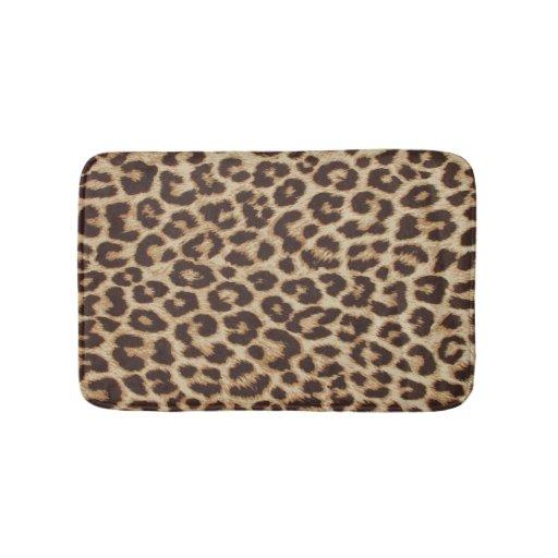 Leopard Print Bath Mat Zazzle