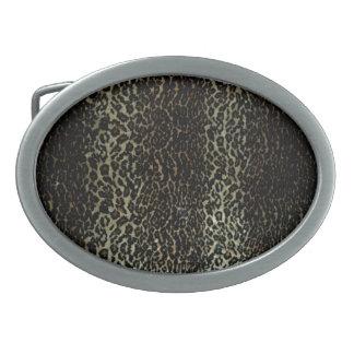Leopard Print Belt Buckle