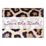 Leopard Print Big Cat Pattern Party Invitation