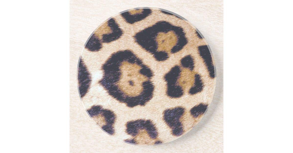 Leopard Print Big Cat Real Fur Pattern Coaster | Zazzle