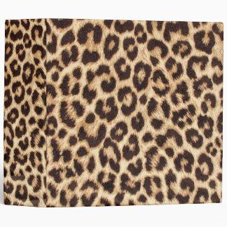 Leopard Print Binder
