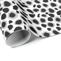 Leopard Print - Black and White Wrapping Paper