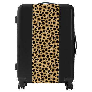Leopard Print - Black, Brown and Camel Tan Luggage