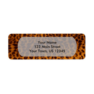 Leopard print black spotted Skin Texture Template Label