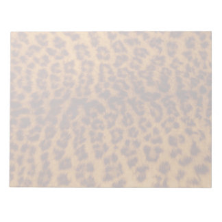 Leopard print black spotted Skin Texture Template Notepad