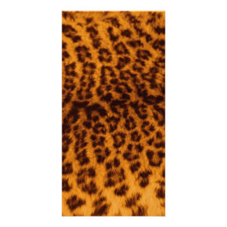 Leopard print black spotted Skin Texture Template Photo Card Template