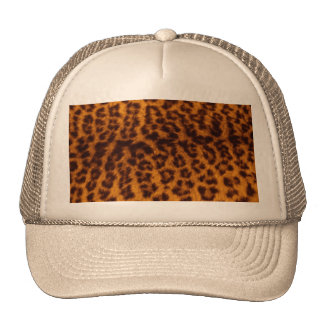 Leopard print black spotted Skin Texture Template Trucker Hat