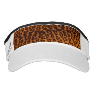 Leopard print black spotted Skin Texture Template Visor