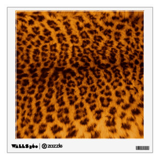 Leopard Print Black Spotted Skin Texture Template Wall Sticker
