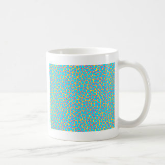 Leopard Print Blue on Yellow Coffee Mug