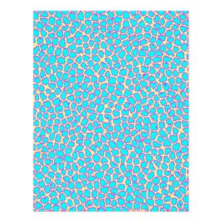 Leopard Print Blue on Yellow Customized Letterhead