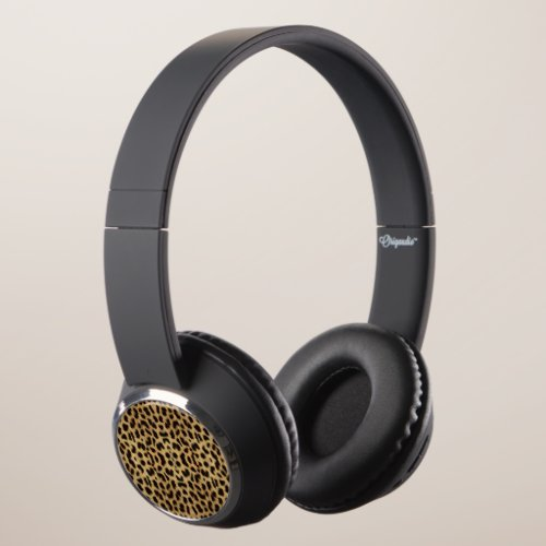 Leopard Print Bluetooth Headphones