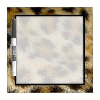Leopard Print Border Dry Erase Marker Board