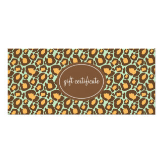 Leopard Print Boutique Style Gift Certificates
