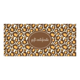 Leopard Print Boutique Style Gift Certificates Rack Cards
