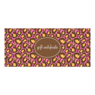 Leopard Print Boutique Style Gift Certificates Custom Rack Cards