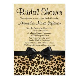Leopard bridal shower invitations announcements zazzle leopard print bridal shower invitation filmwisefo