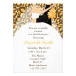 Leopard Print Bride and Groom Wedding Shower Invitations