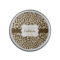 Leopard Print Brown Tan Peach Bumpster Speaker