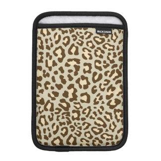 Leopard Print Brown, Tan, Peach Sleeve For iPad Mini