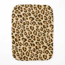 Leopard Print Burp Cloth