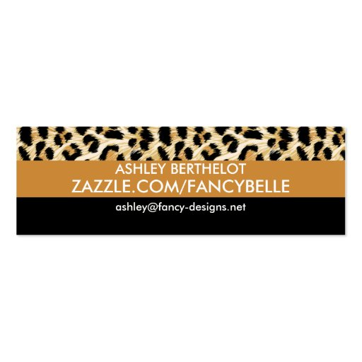 Leopard Print Double-Sided Mini Business Cards (Pack Of 20)