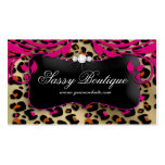 Leopard Print Business Card Pink Swirls Jewelry