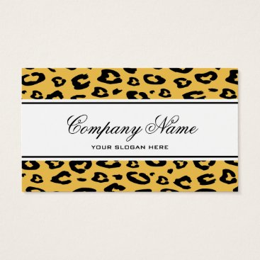 Professional Business Leopard print business card template