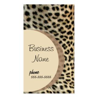 Leopard Print  Business Card Template