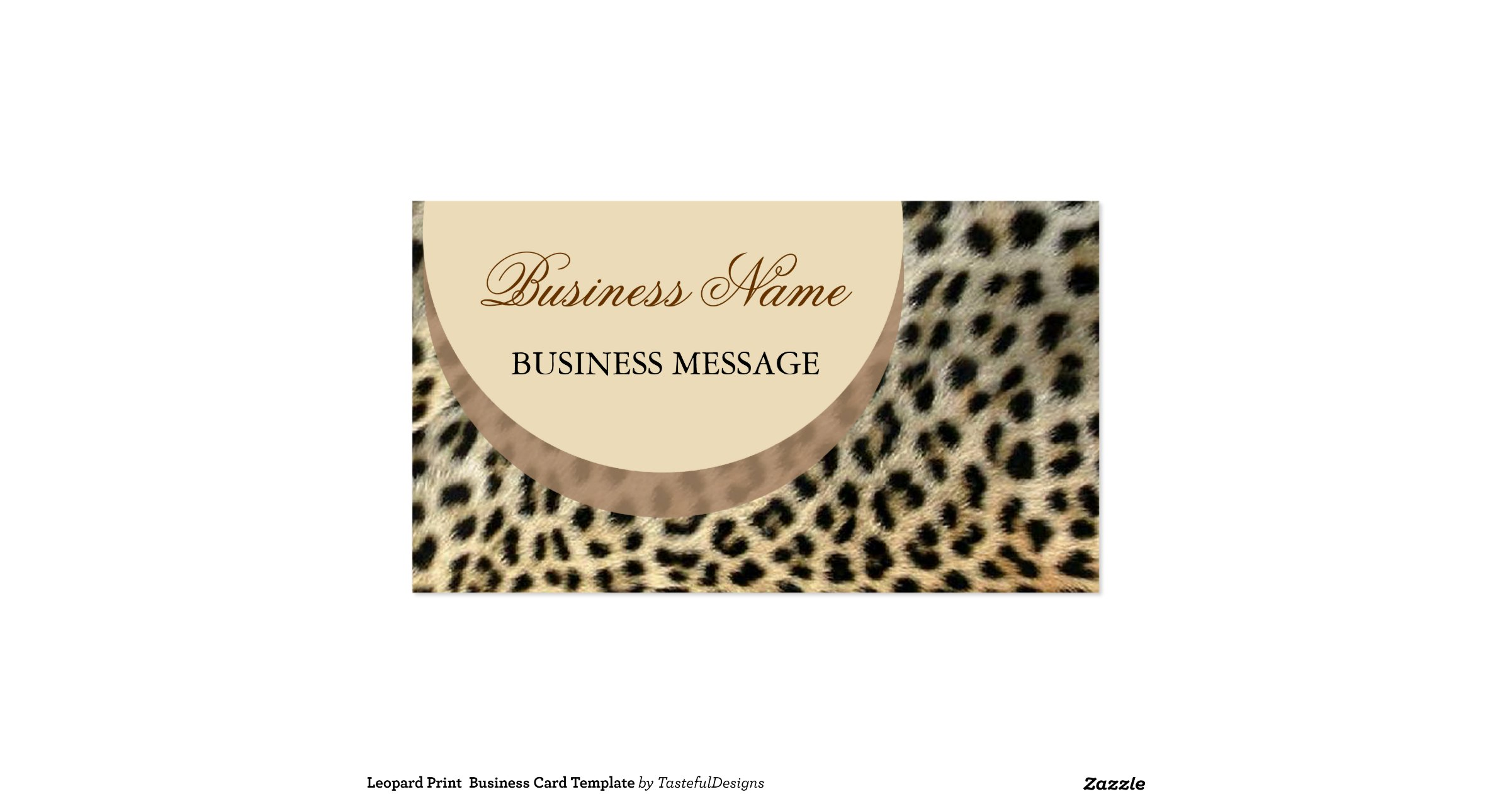 Leopard print business card templates leopard print business card template zazzle leopardprintbusinesscardtemplate reheart Image collections