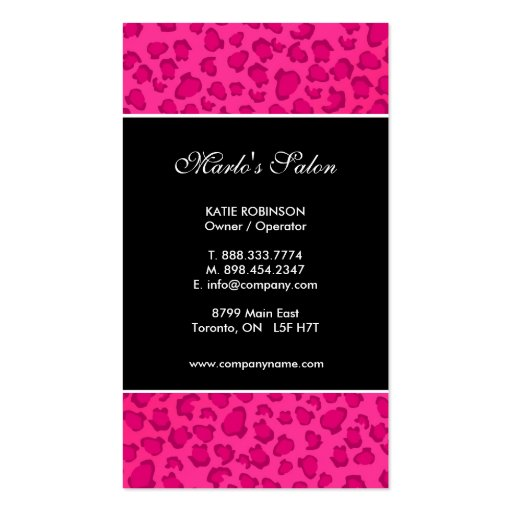 Leopard Print Business Cards