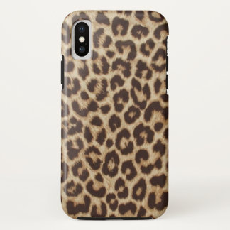 Leopard Print Case-Mate Tough iPhone X Case