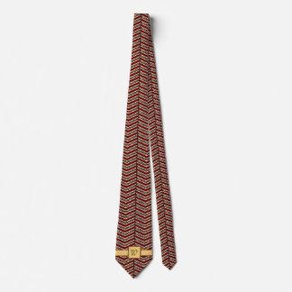 Leopard Print Chevron Men's Neck Tie