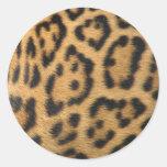 Leopard Print Classic Round Sticker