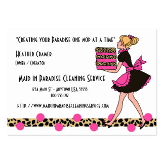Leopard Print Cleaning Service Business Cards